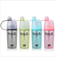 Creative Outdoor Sports Kettle Replenishment Moisturizing Beauty Water Spray Plastic Hand Cups Spray Water Bottle Cooling