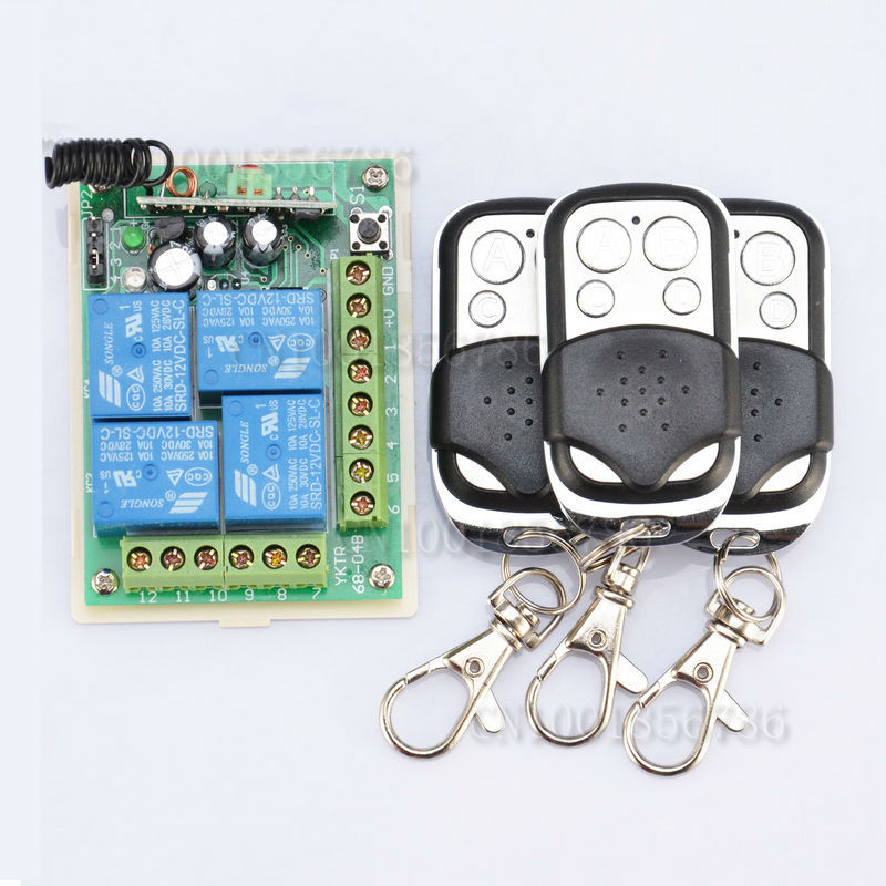 DC 12V 10A 4 Channels Learning Code RF Wireless Remote Control Switch Systems Receiver 3 Transmitter peter stone layered learning in multiagent systems – a winning approach to robotic soccer