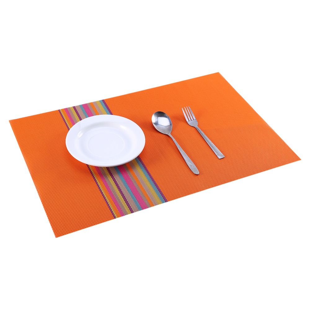 Dining table mats - 1pc Pvc Placemat Dining Table Mats Set De Table Bowl Pad Napkin Dining Table Tray Mat