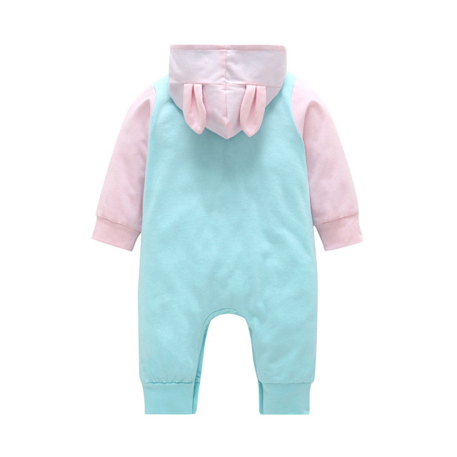 MUQGEW Newborn Infant Baby Boy Girl Cartoon 3D Ear Hooded Romper Jumpsuit Clothes roupa de menina Winter clothes for baby Baby Rompers