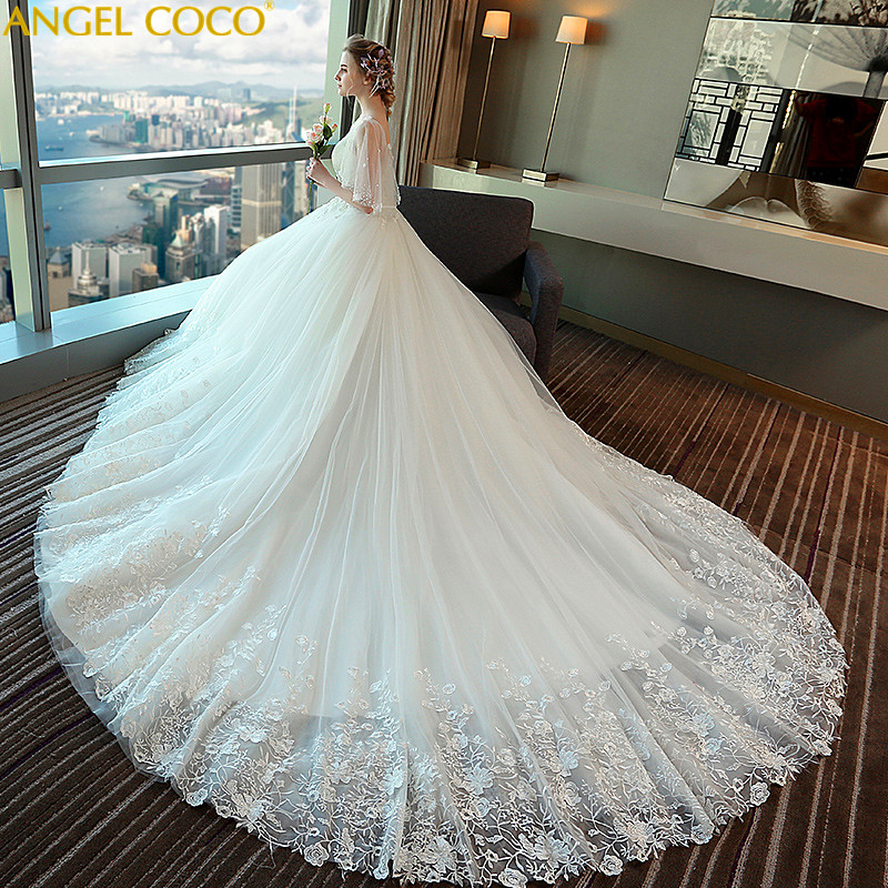 Pregnant Woman Wedding Dresses Plus Size High Waist Wedding Gown Vestidos De Noiva Robe De Mariage Maternity Clothing 2018 New цена