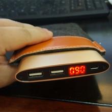 Ультра-тонкий металлический Запасные Аккумуляторы для телефонов 20000 мАч двойное зарядное устройство USB внешний Батарея Портативный Зарядное устройство Bateria наружный пакет для смартфона