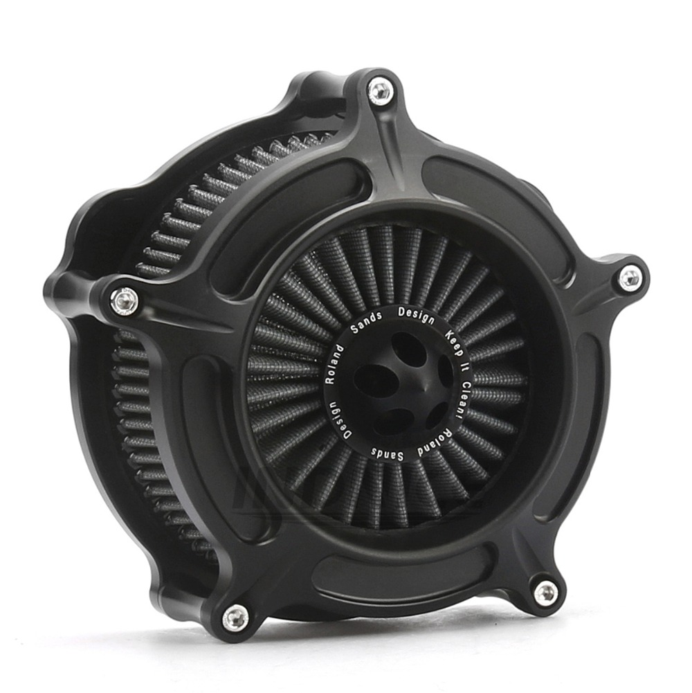 Motorcycle Turbine Spike For Harley Spike Air Cleaner Intake Filter for Sportster XL 883 1200 48 72 1991-2014 mtsooning timing cover and 1 derby cover for harley davidson xlh 883 sportster 1986 2004 xl 883 sportster custom 1998 2008 883l
