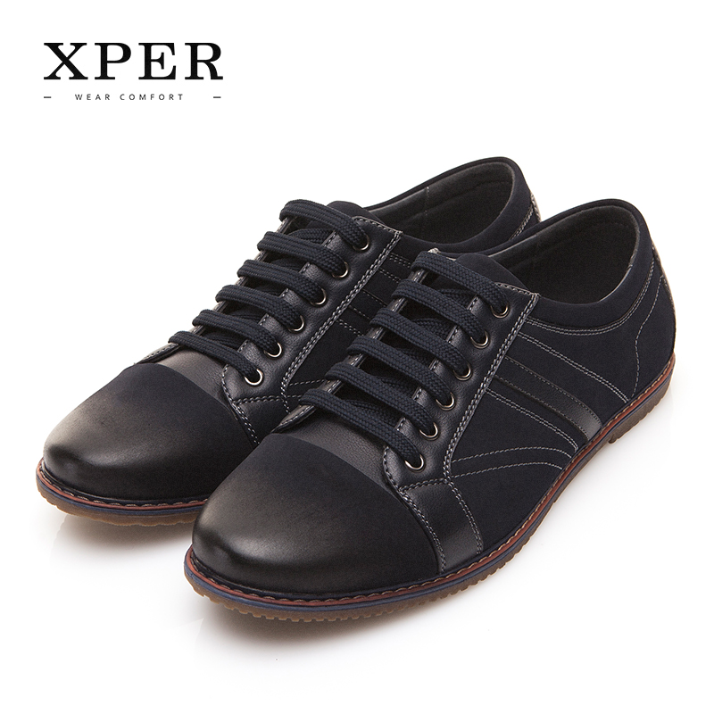 XPER Brand Shoes Men Spring Autumn New Fashion Casual Shoes Wear Comfortable Footwear Male Walking Lace-Up Shoes  #XAF86005BL