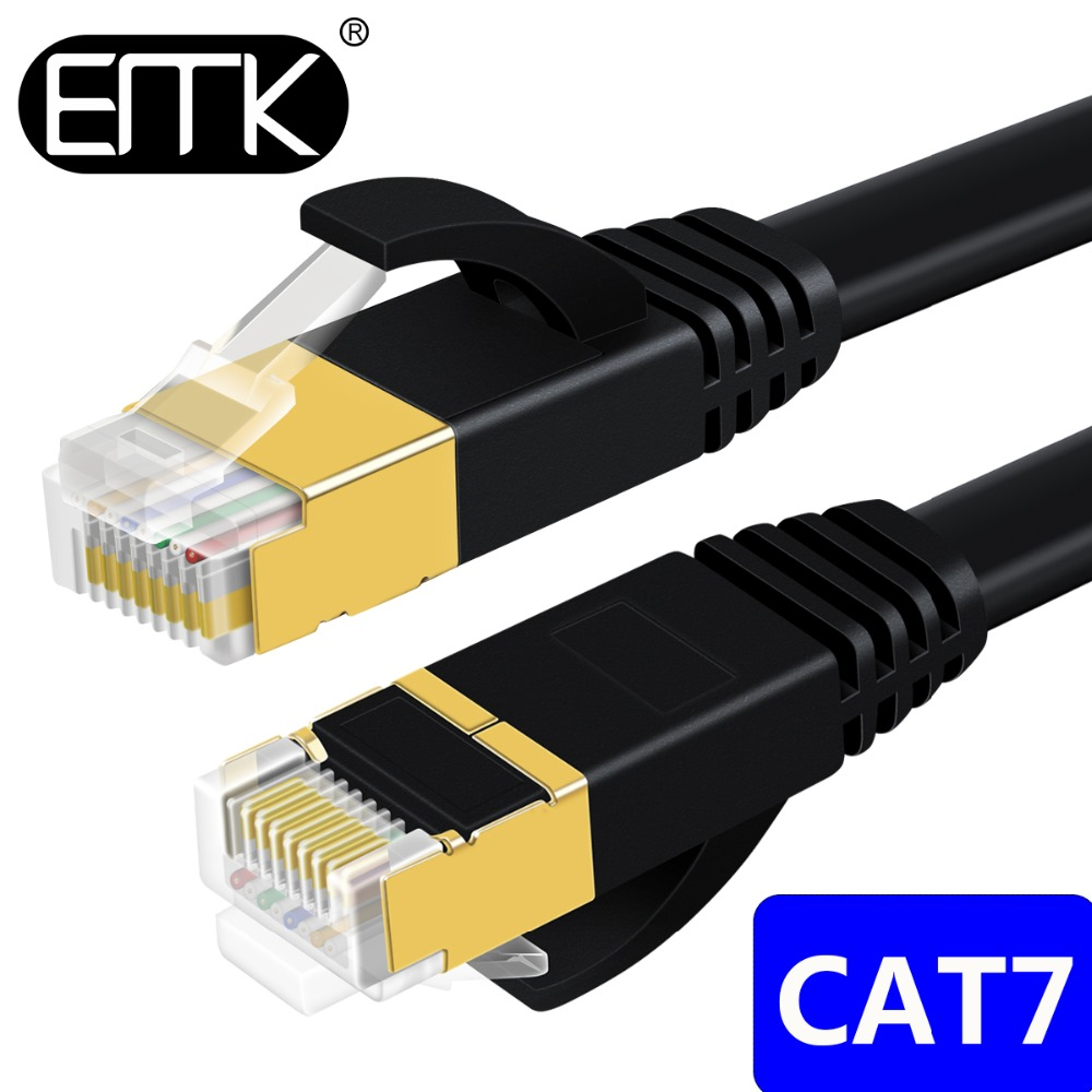 EMK CAT7 Ethernet Cable RJ45 cat 7 cable rj 45 Network Cable lan Patch Cord 3m 5m 10m 15m 20m for Router Laptop XBox PC Cable цена