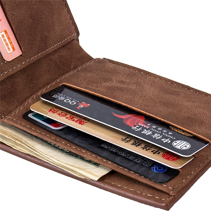 New Men Wallets Small Money Purses Wallets New Design Dollar Price Top Men Thin Wallet With Coin Bag Zipper Wallet L027 5