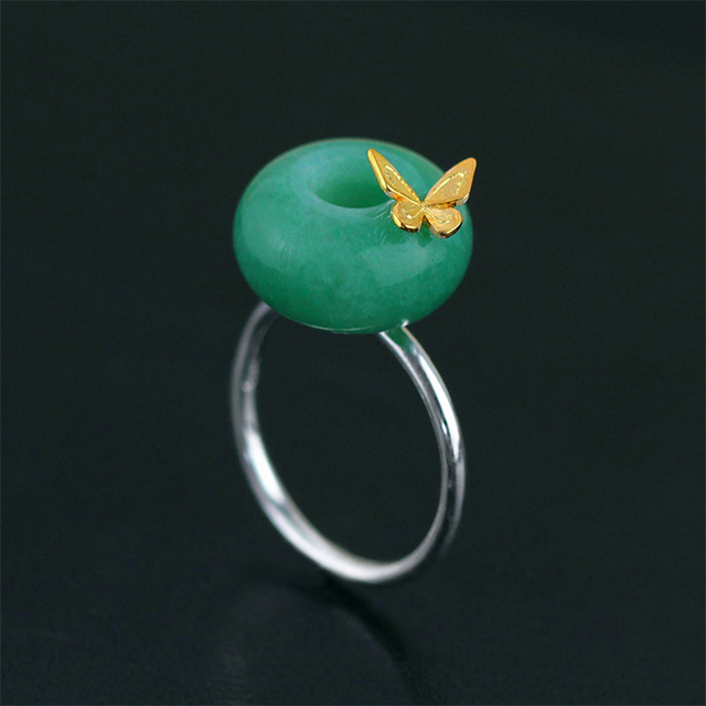 Exclusive New Handmade 925 Sterling Silver Jewelry Very Stylish Design Butterfly Ring For Women With Natural Stone Gift