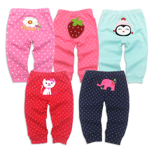 5PCS/lot Baby Pants 100%cotton Cartoon girl Clothes Newborn Trousers Infant Clothing Toddler Girl Leggings