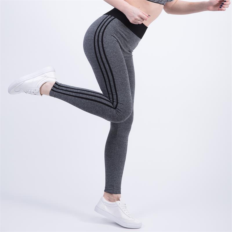 Vertical Stripes Side Leggings Women High Waist Drawstring Long Pants 2018 Spring Active Workout Leggings