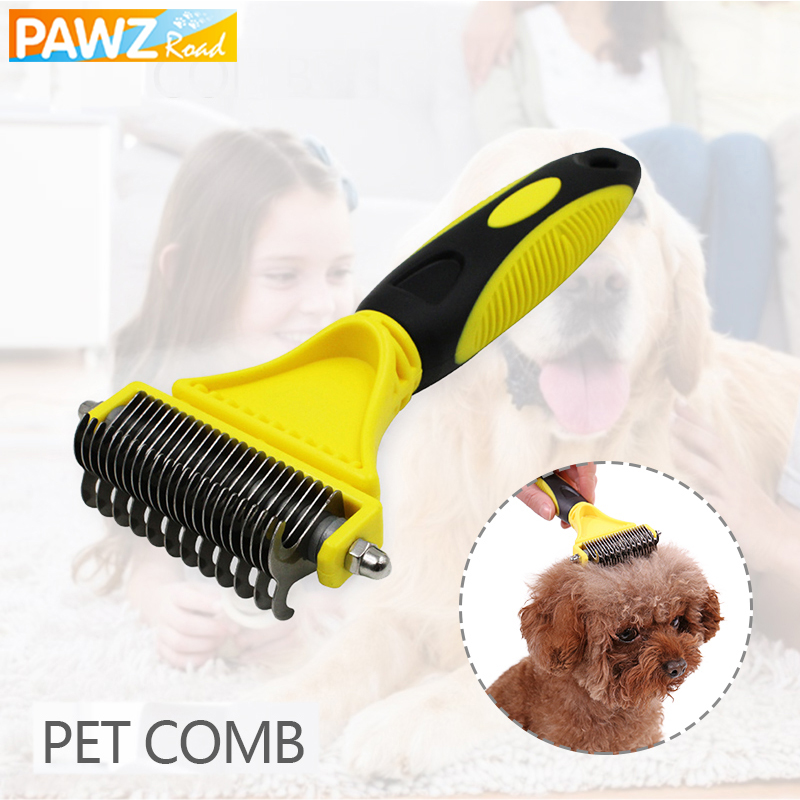 Professional Pet Dog Comb Double Side Fur Dog Brush Comb Cat Rake Grooming shedding Trimmer Tool Clean Quick Remove Hair for Dog