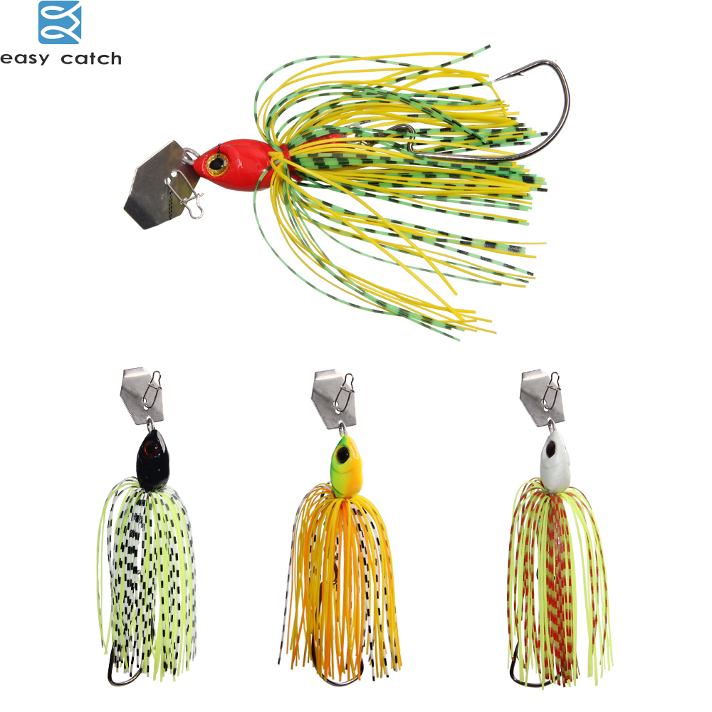 EASY CATCH 6pcs/lot Lures Chatterbait Elite Series with silicone Skirts buzzbait spinnerbait for lure fishing-0