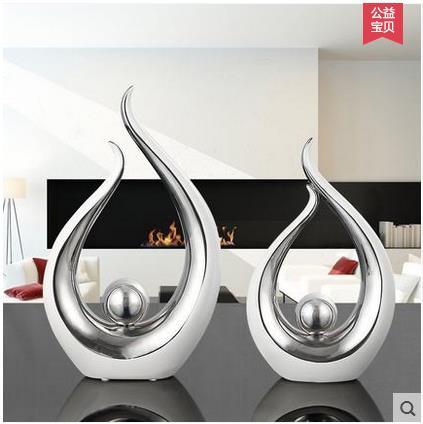 Us 4856 Ceramiczny Kreatywny Srebrny Ball Wyroby Do Dekoracji Domu Dekoracja Pokoju Rękodzieło Ozdoba Porcelanowe Figurki Dekoracje ślubne W