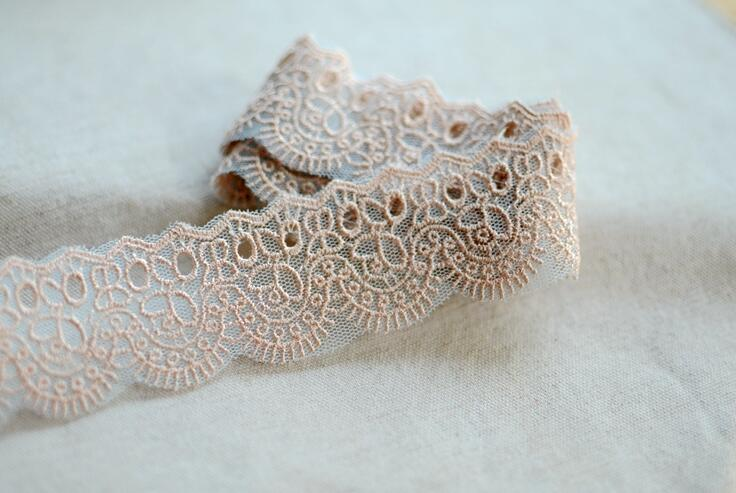 10 Meters 3.5cm Width Venice Lace Applique Trim Light Khaki Sewing Trims Crafts Baby Scrapbooking Accessory