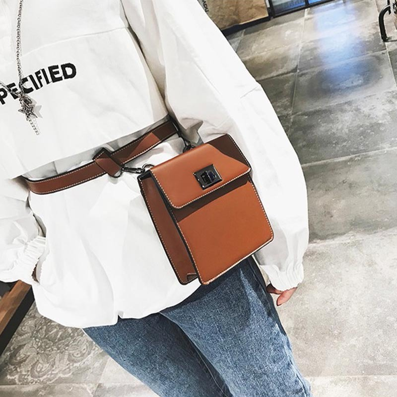 Anreisha Women Fashion Waist Bag Brand Designer Vintage Belt Bag For Female Multi-function Women Bags Crossbody Phone Pack Bags