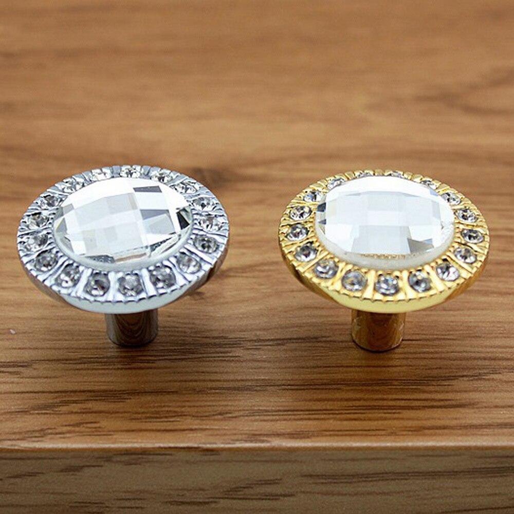 Fashion Glass Dresser Pulls Drawer Pull Handles Crystal