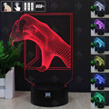 Garra dragão 3D Night Light RGB Mutável Lâmpada de Humor e LEVOU Luz dc 5 v usb candeeiro de mesa decorativo obter um free controle remoto