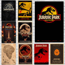 Jurassic Park Movie Posters Vintage Style Wall Stickers Kraft Paper Prints Home Decoration home art Brand MO29(China)