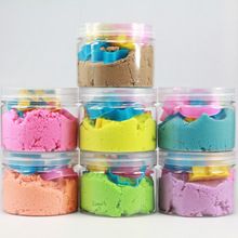 250g box and 6 Models Kinetic Color Clay Dynamic Sand Amazing Indoor Magic Play Sand Educational