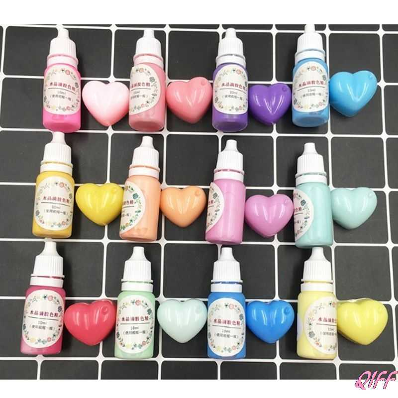 12 Bottles Liquid Macaron Candy Color Resin Pigment Dye Resin Epoxy Jewelry DIY