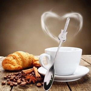 Музыкальные инструменты из нержавеющей стали, 6 шт./компл., декоративные мини-ложки для кофе и чая, кухонные принадлежности