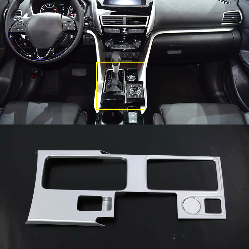 Left Hand Drive Only! For Mitsubishi Eclipse Cross 2018 ABS Plastic Front Central Gear Shift Panel Cover Trim 2pcs Car Styling montford car styling abs matte internal gear panel cover trim for mitsubishi outlander 2016 2017 only for left handed driving
