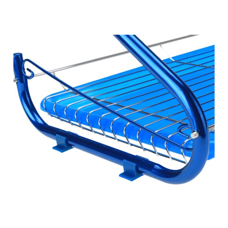 HOT GCZW-iron 2 Tiers Kitchen Dish Cup Drying Rack Drainer