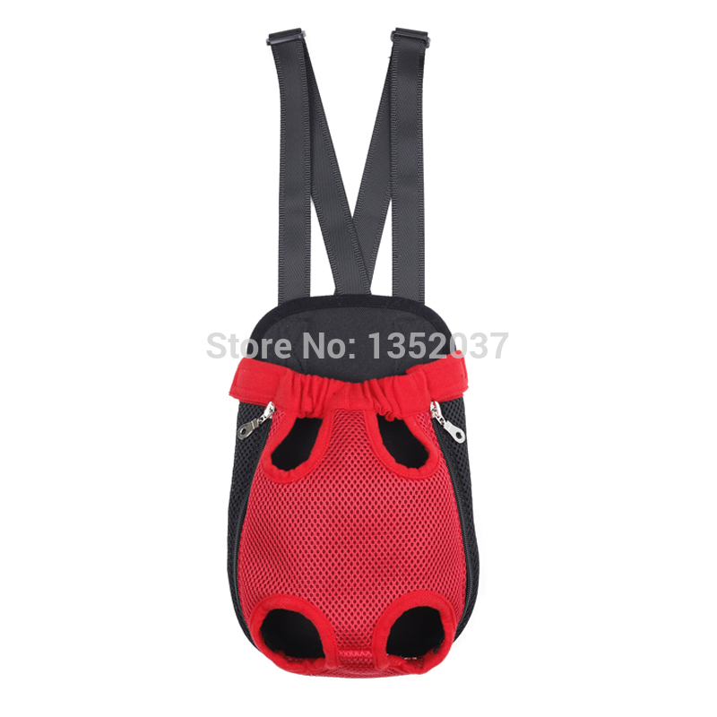 hot sale free shipping nice Breathable Mesh pet carrier bag dog front backpack red