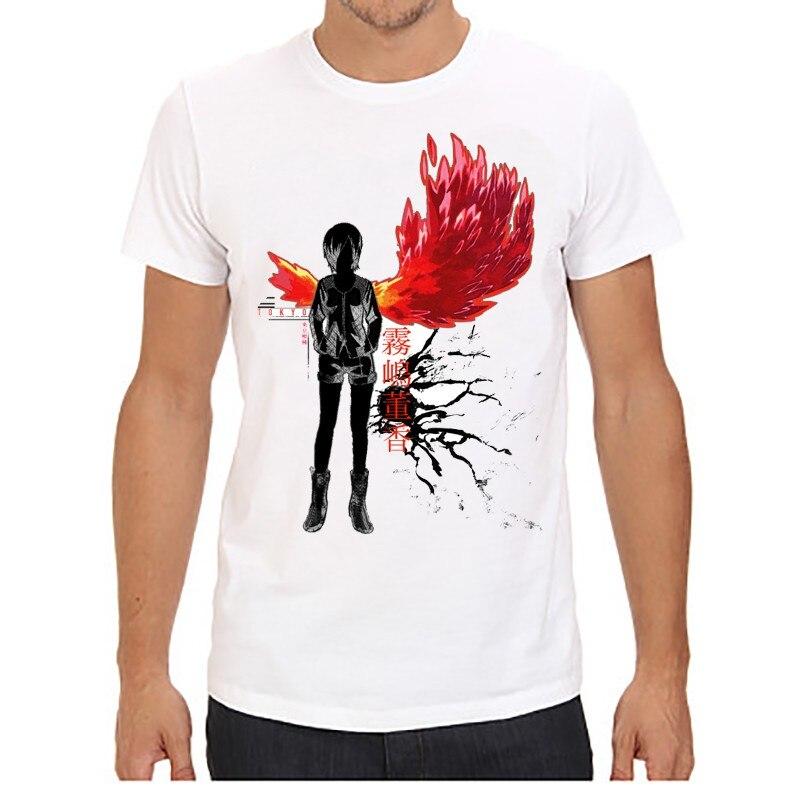 6552f582a9 Hommes T-shirt anime de Tóquio Ghoul Tokyo Ghoul imprim quente t camisa  vtements courtes manches Tokyo Ghoul Kaneki Ken t-camisa