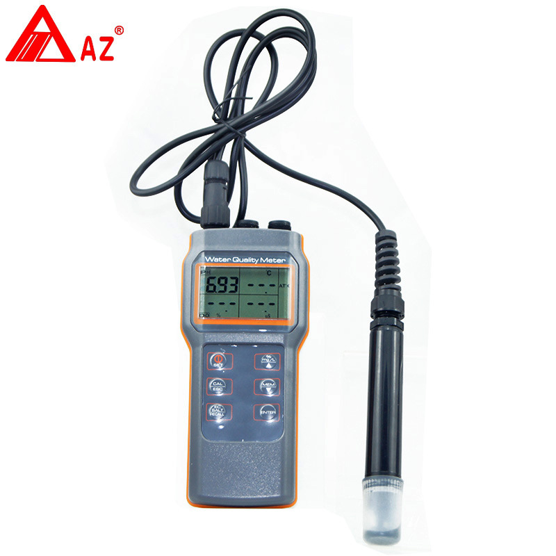 AZ8603 Water Quality Monitor Meter Dissolved Oxygen Tester PH meter PH Conductivit Salinity Temperature Meter az86031 online dissolved oxygen meter with water quality dissolved oxygen tester ph meter conductivit salinity