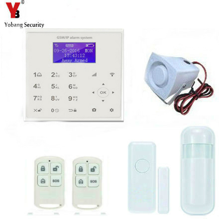 YobangSecurity Touch Keypad Wifi GSM GPRS Home Security Voice Burglar Alarm PIR Motion Detector Door Sensor Video IP Camera цена
