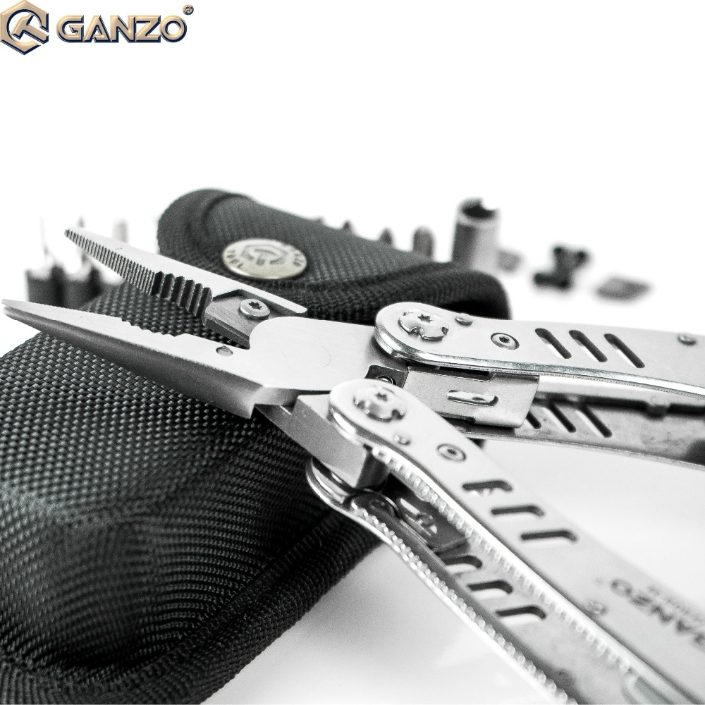 3pcs/lot Ganzo G302H G302-H Motor Multi Pliers Tool Kit Nylon Pouch Combination Stainless Steel Folding Knife Pliers For Camping ganzo g704 g