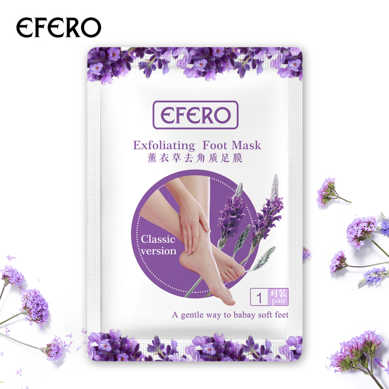 Efero 12pcs=6pair Exfoliating Foot Mask For Legs Remove Dead Skin Smooth For Feet Skin Care Sosu Pedicure Socks Detox Foot Patch