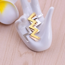 1pc Smooth surface wave double hanging pendant chain clavicle double hole pendant plating hanging diy bracelet accessories coppe