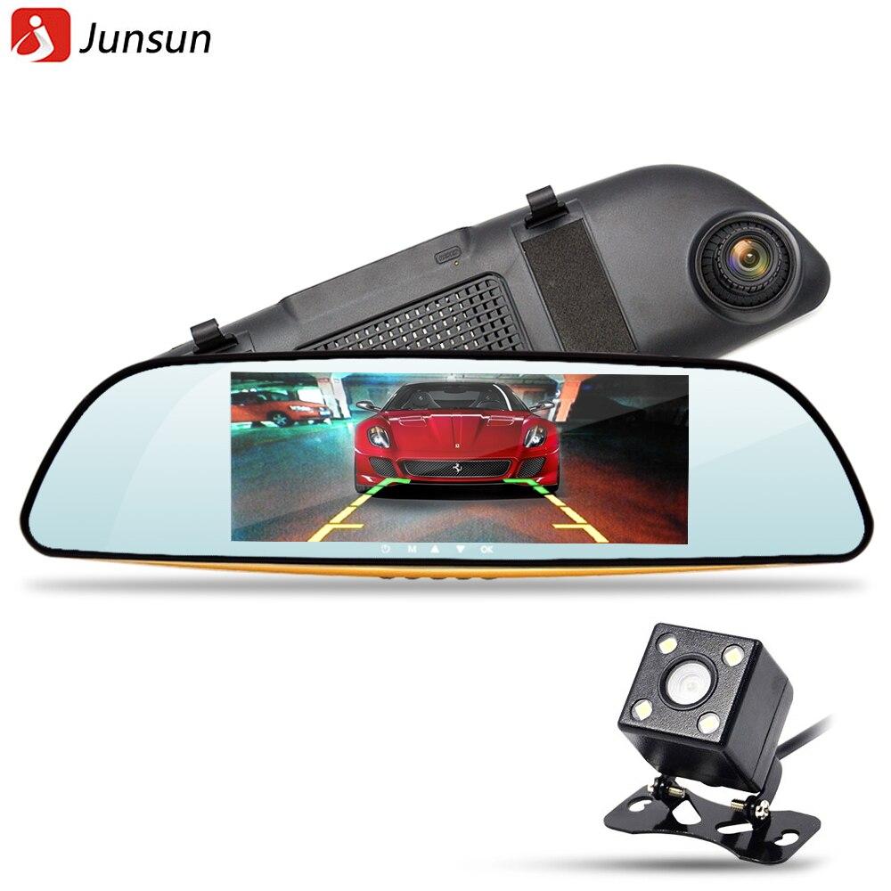 Junsun 6 5 IPS Car DVR Camera Mirror with LDWS ADAS Dual Lens FHD 1080P Video