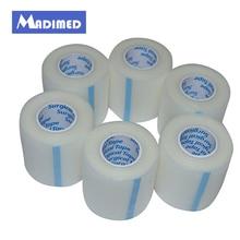 MADIMED 6 рулонов/Lot 5,0 см x 9,1 м клей медицинского дышащий PE лента первой помощи ленты