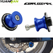 With CBR1000RR LOGO For Honda CBR 1000 RR 2004-2011 2005 2006 Motorcycle Swingarm Spools Sliders Stands Screws 8MM