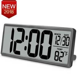 large square wall clock, LCD power-saving digital Alarm clock, Multi-function Home decor, office big table clock, wall watch
