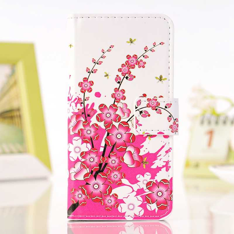 for Huawei Ascend L70 L90 P7 Y300 soft smooth painting PU leather+hard PC back cover flip stand wallet style phone case