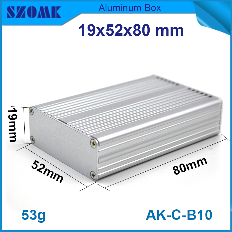1 piece free shipping AK-C-B10 metalic aluminium box szomk electronics case amplifier enclosures 1 piece free shipping small aluminium project box enclosures for electronics case housing 12 2x63mm
