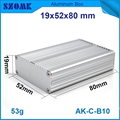 1 piece free shipping AK-C-B10 metalic aluminium box szomk electronics case amplifier enclosures