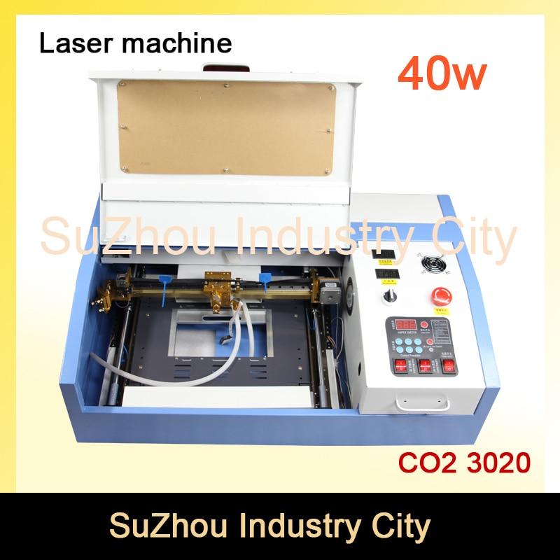 Высокое качество! 110/220 В 40 Вт 200*300 мм мини co2 лазерный гравер гравировка Резка машины 3020 лазер с USB Спорт