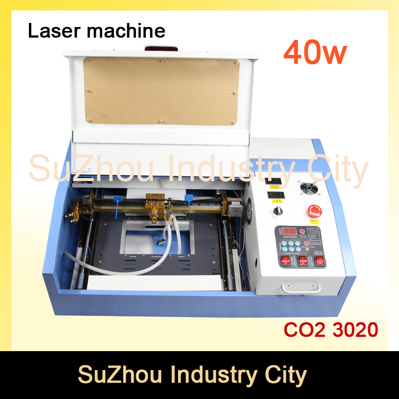High Quality ! 110/220V 40W 200*300mm Mini CO2 Laser Engraver Engraving Cutting Machine 3020 Laser with USB Sport 40w 200 300mm mini co2 laser engraver engraving cutting machine 3020 laser with usb sport