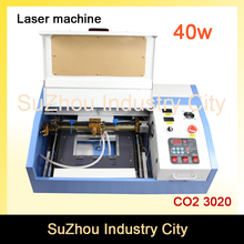 High Quality ! 110/220V 40W 200*300mm Mini CO2 Laser Engraver Engraving Cutting Machine 3020 Laser with USB Sport