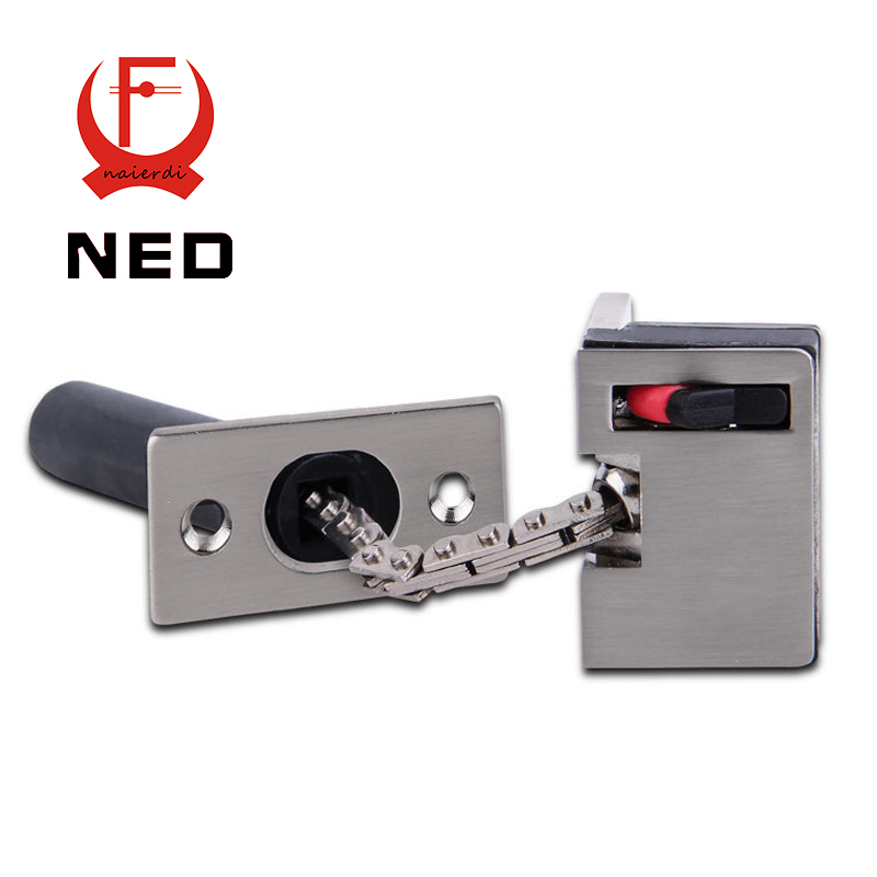 2016 Newest NED DFL Zinc Alloy Security Door Guard Extruded Security Latch Door Chain Swing Bar
