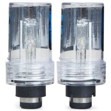 2pcs D2S Super Bright 6000K 3600lm White Light HID Xenon Lamp Car Headlamp Metal Holder Replacement Light Lamp Bulb for Vehicle