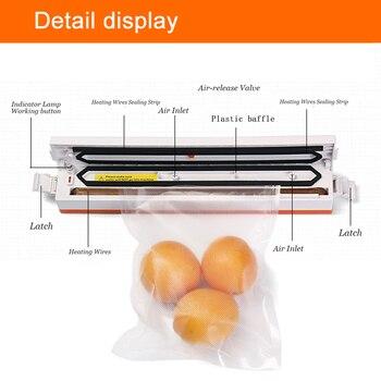 SaengQ Elektrikli Vakumlama Makinesi Paketleme Makinesi Ev Mutfak Için De Dahil Olmak üzere 15 Adet Gıda Koruyucu çantaları Ticari Vakumlu Gıda Sızdırmazlık