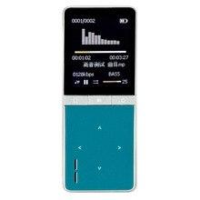 2017 Recién Llegado de altavoz Reproductor de MP3 con 8 GB y 1.8 pulgadas de Pantalla 50 h Grabadora de Deportes jugador sin pérdidas de alta calidad Rápido azul