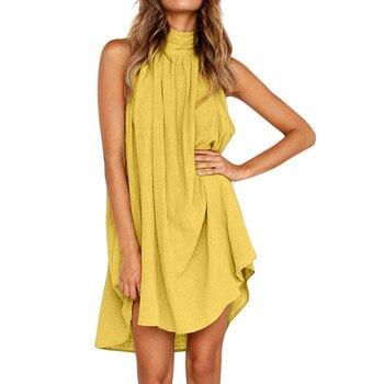 Women's Holiday Irregular Dress Ladies Summer Beach Sleeveless Party Dress gowns verano New Arrival dresses for women *n