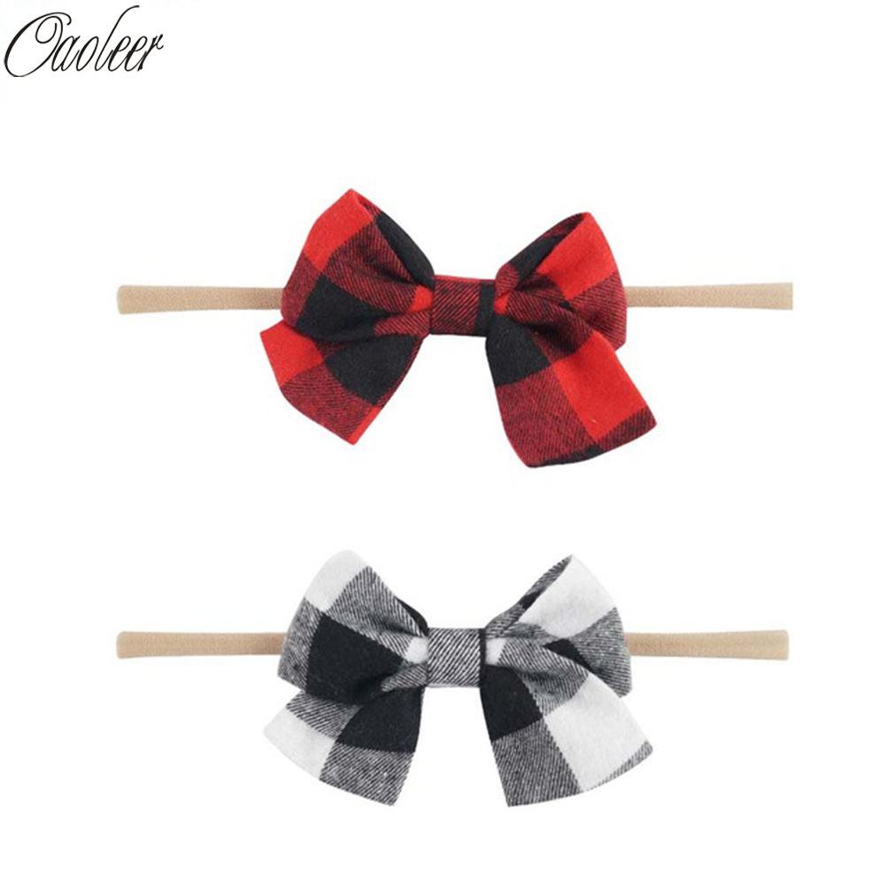 baby hair headbands accessories elastic girl white red bow