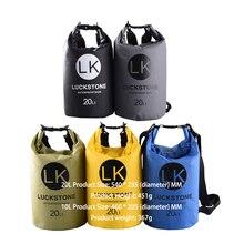 LUCKSTONE Ultralight Swimming Bag Dry5 Colors Outdoor Nylon Kayaking Storage Drifting Waterproof Rafting Bag 20L